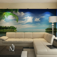 Custom size wallpaper Mural tv background wallpaper sofa non-woven wallpaper qiangbu blue sky