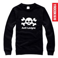 Free shipping Avril avril punk skull pullover sweatshirt