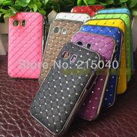 Free Shipping! High Quality Plating Bling Star Crystal Diamond Rhinestone Hard Back Case for Samsung Galaxy Y S5360, SAM-101