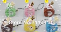Mixed Order Stock Price Free Shipping  Kawaii Colorful Cake  PVC Phone Charms Straps 40pcs/lot