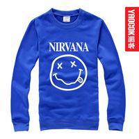 Free shipping Nirvana fashion plus size sweatshirt pullover