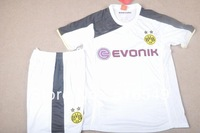 Best quality 2013 2014 borussia dortmund away white color soccer jersey kits 13-14 borussia dortmund soccer sport clothes