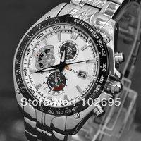 2012 Curren Dial Water Quartz Hours Date Silver Hand Sport Men Steel Wrist Watch top brand Mens watches Free shipping