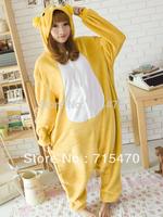 Bear Pajamas Adult Anime Cosplay Costume Sleepsuit CuteRilakkuma Bear Pajamas Sleepsuit Onesie Sleepwear Unisex