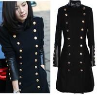 Winter new arrival woolen outerwear women's military wind wool coat cool trench winter wear