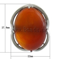 Free shipping!!!Agate Finger Ring,Wholesale Jewelry, Red Agate, with Brass, platinum color plated, 22x27.80x10.80mm, Size:6.5