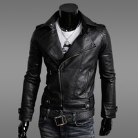 2013 jacket motorcycle slim male leather jacket outerwear male leather clothing outerwear thin