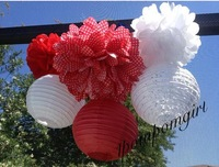 100pcs 20cm Chinese round paper lantern wedding lantern Pick Your Colors Wedding Birthday Party decoration Craft