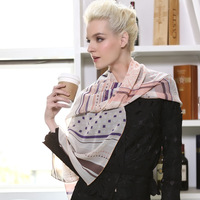 Pteroic gem design silk long silk scarf 2013 spring and summer new arrival geometry women's mulberry silk scarf sweet encounter
