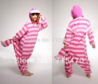 New Adult Unisex Cartoon Sleepwear Onesies Winter Women Hooded Animal Flannel Cheshire Cat Full Woman Halloween Costumes