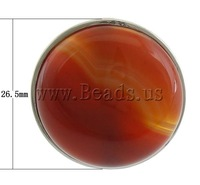 Free shipping!!!Agate Finger Ring,Statement jewellery 2013, Red Agate, with Brass, platinum color plated, 26.50x9mm, Size:6.5