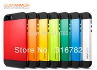 Free Shipping SLIM ARMOR SPIGEN SGP case for iPhone 5