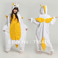 Golden Unicorn Unisex Kigurumi Pajamas Adult Anime Cosplay Costume Sleepsuit Cute