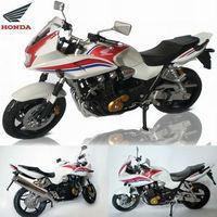 Free Shipping! Brand New 1:12 Scale Honda CB1300SB(SUPER BOLDOR) White Diecast Racing Motorcycle Model
