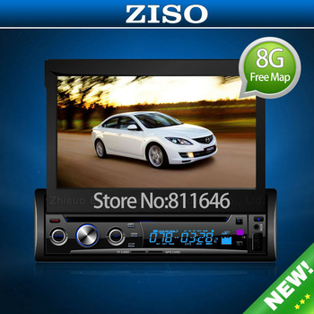UNIVERSAL 7 INCH One Din CAR STEREO VIDEO DVD PLAYER WITH Bluetooth GPS 8G free maps + CCD camera