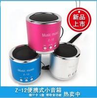 Free shipping to Spain ! wholesale soundbox portable mini speakers music player+FM radio fashion gift