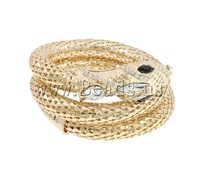 Free shipping!!!Zinc Alloy Bangle Jewelry,Hot Selling, Snake, gold color plated, with rhinestone, nickel, lead & cadmium free