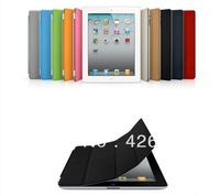 Fedex free shipping 100 PC/lot Magnetic PU Leather Smart Cover Stand Case Skin Shell for iPad 2 iPad 3 iPad 4 Multi-Color