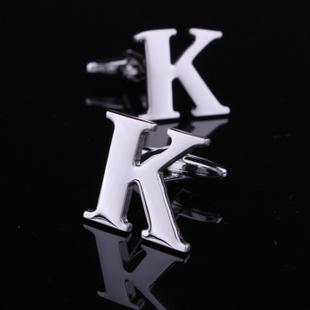 NOVO 2013 senhor K carta abotoaduras homens camisa de manga prego francês ( letra k)(China (Mainland))