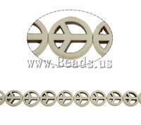 Free shipping!!!Turquoise Beads,Factory Price, Synthetic Turquoise, Peace Logo, beige, 15x3.50mm, Hole:Approx 1.5mm