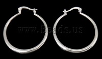 Free shipping!!!Brass Earrings,Celebrity, Round, silver color plated, nickel, lead & cadmium free, 30x35x3mm, 50Pairs/Bag