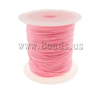 Free shipping!!!Nylon Cord,Whole sale, pink, 1mm, Length:Approx 100 Yard, Sold By PC