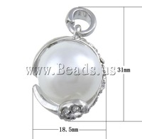 Free shipping!!!Zinc Alloy Lobster Clasp Charm,luxury, Oval, nickel, lead & cadmium free, 18.50x31x15.50mm, Hole:Approx 4.5mm