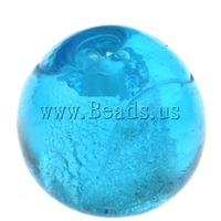 Free shipping!!!Silver Foil Lampwork Beads,Jewelry 2013 Fashion, Round, blue, 10mm, Hole:Approx 1.5mm, 100PCs/Bag, Sold By Bag