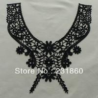 3 X Polyester Black Venise Lace Trims Sewing Dress Costume Applique Craft