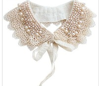 Min. order is $9(can mix different goods) Fashion Vintage Pearl False Collar Necklace Women