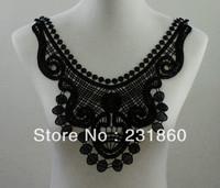 1 X Beautiful Applique Black Neck Neckline Collar Venise Lace Trims 29X33cm
