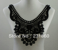 1 X Beautiful Applique Black Neck Neckline Collar Venise Lace Trims 29X33cm