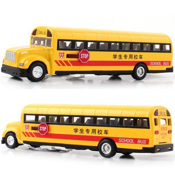 Child WARRIOR alloy car model classic school bus school bus exquisite acoustooptical