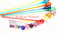 20pcs 80MM MIXED COLORS  GLASS DROP PRISM CHANDELIER LAMP X'MAS WEDDING DECOR PENDANT