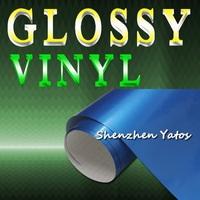 Blue Metallic Glossy Adhesive PVC Vinyl/ Gloss Car Color Vinyl Wrap