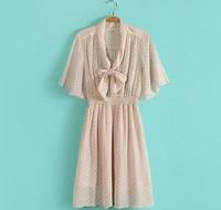 2013 hot new original single dress ms Bohemian long collar lace dress free shipping