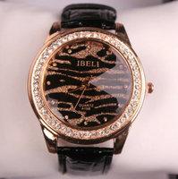 Free Shipping New arrival fashion Leopard Print Full Rhinestone Diamond Ladies Watch