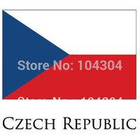 2pcs/lot  Czechia banners Flag Czech Republic 3 X 5 feet national country flag  90x150CM Czech Republic flag