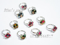 Free Shipping Kids Mickey &Minnie Mouse Acrylic Rings Finger Charm  for Party Lots Retail Packing