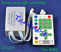 free shipping LED RGB controller DC12V 3A*9 for Horse race led strips RGB led strip controller dimmer RoHS CE