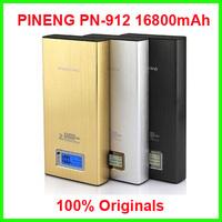 100% original Pineng PN-912, 16800mAh Power Bank With Dual USB Outputs for IPad, Iphone, Smartphones