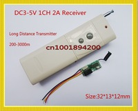 DC3.7V Remote Control Switch Mini Small Receiver+Long Distance Range Transmitter 315/433MHZ