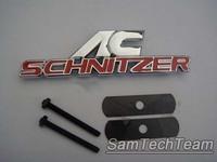 2pcs CN drop ship Aluminium Metal Car Logo Sticker Front Grille Emblem Badge For BMW X3 x5 AC Schnitzer