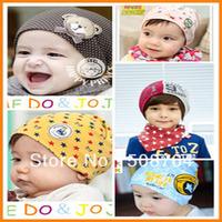 5pcs/lot Big Size cute bear baby cap Kids hats Cotton Beanie Infant hat children baby hat free shipping