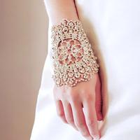 Colour bride bracelet white chain gorgeous armlessly accessories