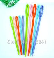 """100Pcs 2 3/4\"""" , 3 5/8\"""" Mixed Plastic Sewing Needles A00427"""