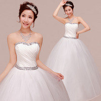 Free Shipping New 2013  Princess Sweet Chiffon Tube Top Slim Bride Wedding Dress Wholesale