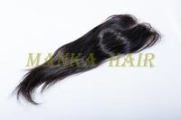 "Top Lace Closure brazilian silk straight middle part  8""-20"" 100% brazilian virgin hair 4""x4"" natural color"