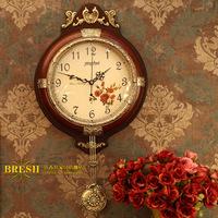 Fashion solid wood wall clock fashion wall clock movement clock mute home 187 - 2