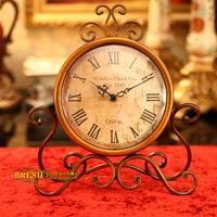 Fashion rustic iron clock vintage classic iron clock 07a501